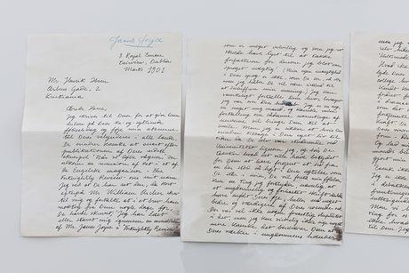 1 A Letter From Joyce To Ibsen. Forfalskning Av Originalt Brev. 2015 Foto Vegard Kleven
