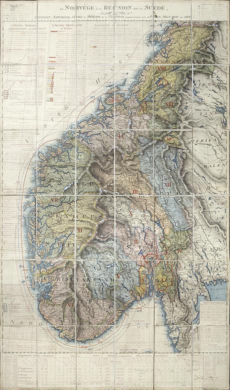 12 La Norvège à La Réunion Avec La Suède, Ou Division Naturelle, Civilie Et Militaire De La Norvège, Conjoinctement Avec Sa Force Militaire En 1814.