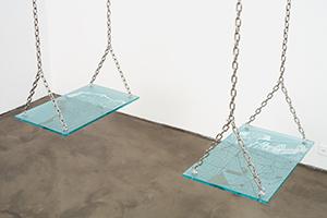 2 Balançoires, 2010. Sandblasted Glass And Stainless Steel. Photographer Joerg Lohse. Courtesy Of Alexander And Bonin, New York